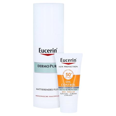Eucerin DermoPure mattierendes Fluid + gratis Eucerin Sun Oil Control Face LSF50+ 20ml 50 Milliliter