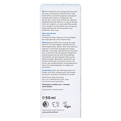 Aloe Vera GEL pur ohne Duft 50 Milliliter - Rückseite
