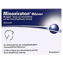 MINOXICUTAN Männer 50 mg/ml Spray 3x60 Milliliter - Vorderseite