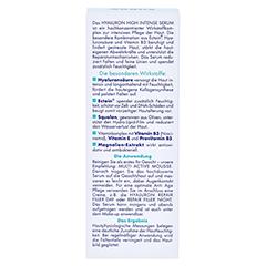 EUBOS HYALURON high intense Serum 30 Milliliter - Rückseite