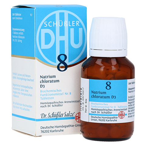 BIOCHEMIE DHU 8 Natrium chloratum D 3 Tabletten 200 Stück N2