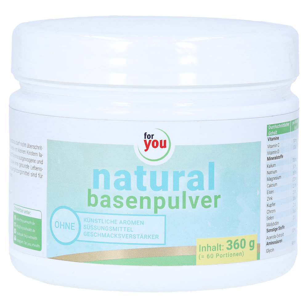 for-you-natural-basenpulver-gratis-laufgurtel-360-gramm