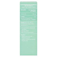 VITAMIN K2 MK7 all-trans 100 µg vegan Tropfen 20 Milliliter - Rückseite