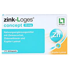 ZINK-LOGES concept 15 mg magensaftres.Kapseln 30 Stück - Vorderseite