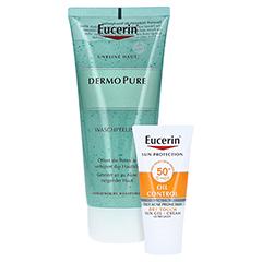 Eucerin DermoPure Waschpeeling + gratis Eucerin Sun Oil Control Face LSF50+ 20ml 100 Milliliter