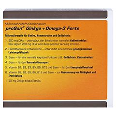 PROSAN Ginkgo+Omega-3 Forte Kapseln 120 Stück - Rückseite