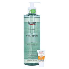 Eucerin DermoPure Reinigungsgel + gratis Eucerin Sun Oil Control Face LSF50+ 20ml 400 Milliliter
