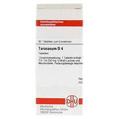 TARAXACUM D 4 Tabletten 80 St�ck N1 - Vorderseite