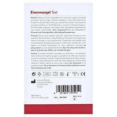 CERASCREEN Eisenmangel Testkit 1 Stück - Rückseite
