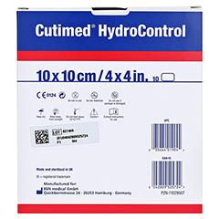 CUTIMED HydroControl Kompressen 10x10 cm 10 Stück - Rückseite
