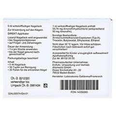 Loceryl gegen Nagelpilz 5 Milliliter - Rückseite