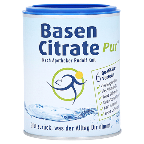 Basen Citrate Pur nach Apotheker Rudolf Keil 216 Gramm