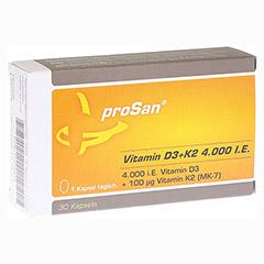 PROSAN Vitamin D3+K2 4.000 I.E. Kapseln 30 Stück