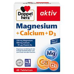 DOPPELHERZ Magnesium+Calcium+D3 Tabletten 40 Stück
