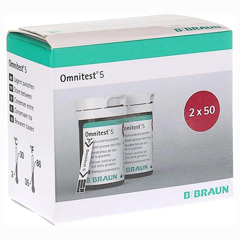 OMNITEST 5 Blutzucker Teststreifen 2x50 Stück