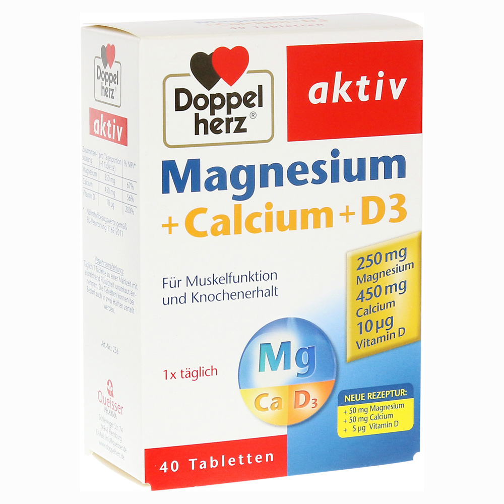 erfahrungen zu doppelherz magnesium calcium d3 tabletten 40 st ck medpex versandapotheke. Black Bedroom Furniture Sets. Home Design Ideas