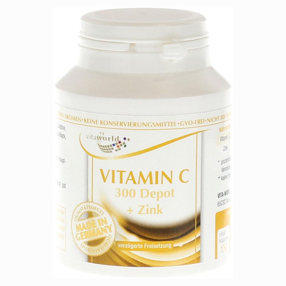 vitamin c 300 zink langzeit kapseln 100 st ck online bestellen medpex versandapotheke. Black Bedroom Furniture Sets. Home Design Ideas