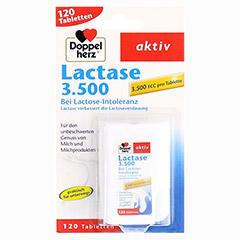 DOPPELHERZ Lactase 3.500 Tabletten 120 Stück - Vorderseite