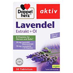 DOPPELHERZ Lavendel Extrakt+Öl Tabletten 30 Stück - Vorderseite