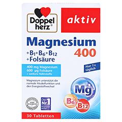 DOPPELHERZ Magnesium 400 mg Tabletten 30 Stück - Vorderseite