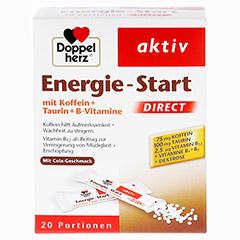 Doppelherz aktiv Energie-Start Direct mit Koffein + Taurin + B-Vitamine 20 Stück - Vorderseite