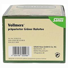Vollmers präparierter Grüner Hafertee 40 Stück - Linke Seite