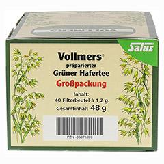 Vollmers präparierter Grüner Hafertee 40 Stück - Rechte Seite