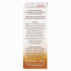 Doppelherz aktiv Energie-Start Direct mit Koffein + Taurin + B-Vitamine 20 Stück - Rechte Seite