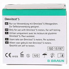 OMNITEST 5 Blutzucker Teststreifen 2x50 Stück - Rückseite