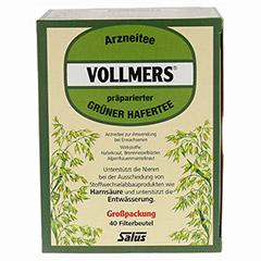 Vollmers präparierter Grüner Hafertee 40 Stück - Oberseite