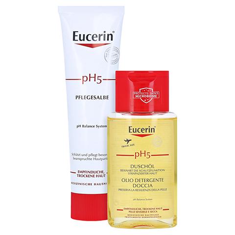 EUCERIN pH5 Pflegesalbe + gratis Eucerin pH5 Duschöl 100 ml 100 Milliliter