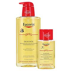 EUCERIN pH5 Duschöl empfindliche Haut m.Pumpe + gratis Eucerin pH5 Duschöl 100 ml 400 Milliliter