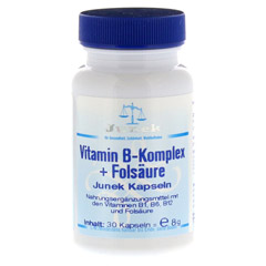 VITAMIN B Komplex+Folsäure Junek Kapseln 30 Stück