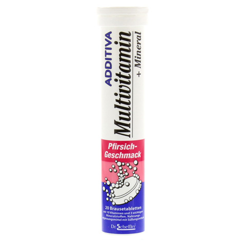 ADDITIVA Multivit.+Mineral Pfirsich R Brausetabl. 20 Stück