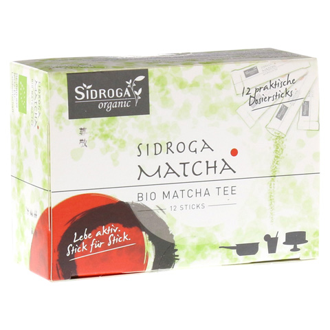 SIDROGA organic Matcha Tee Sticks 12 Stück