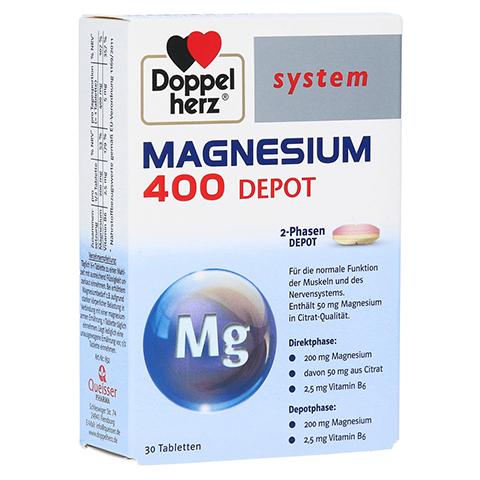 DOPPELHERZ Magnesium 400 Depot system Tabletten 30 Stück
