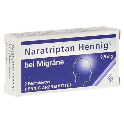 Naratriptan Hennig bei Migräne 2,5mg 2 Stück N1