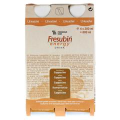 FRESUBIN ENERGY DRINK Cappuccino Trinkflasche CPC 4x200 Milliliter - Vorderseite