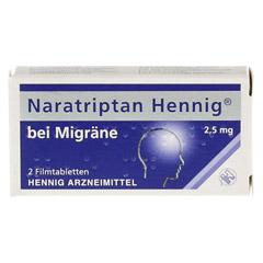 Naratriptan Hennig bei Migräne 2,5mg 2 Stück N1 - Vorderseite