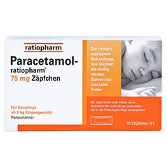 Paracetamol-ratiopharm 75mg 10 Stück N1 - Vorderseite