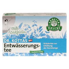 DR.KOTTAS Entwässerungstee Filterbeutel 20 Stück - Vorderseite