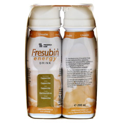 FRESUBIN ENERGY DRINK Cappuccino Trinkflasche CPC 4x200 Milliliter - Linke Seite