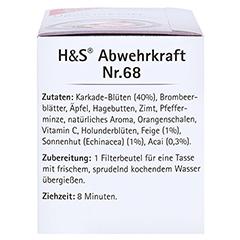 H&S Abwehrkraft Filterbeutel 20 Stück - Linke Seite