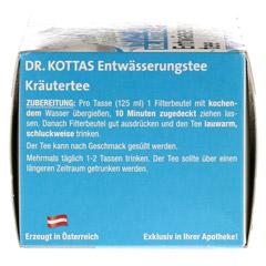 DR.KOTTAS Entwässerungstee Filterbeutel 20 Stück - Linke Seite