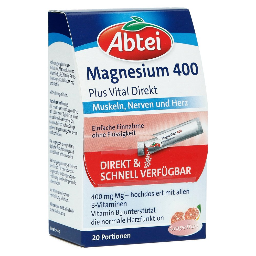 abtei-magnesium-400-vitamin-b-komplex-granulat-20-stuck, 4.79 EUR @ medpex-de