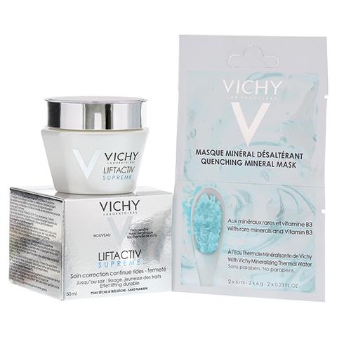 Vichy LIFTACTIV SUPREME Tagescreme trockene Haut + gratis Vichy Maske feuchtigkeitsspendend (blau) 50 Milliliter
