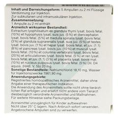NEYDIL Nr.68 Revitorgan Dil.D 4 pro Ampullen vet. 5x2 Milliliter - Rückseite