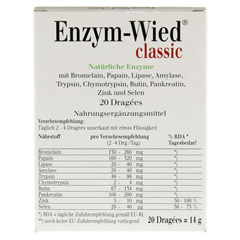 ENZYM WIED classic Dragees 20 Stück - Rückseite