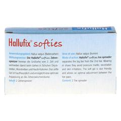 HALLUFIX softies Zehenspreizer Gr.M 36-41 2 Stück - Rückseite