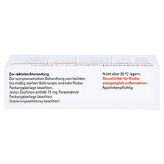 Paracetamol-ratiopharm 75mg 10 Stück N1 - Oberseite